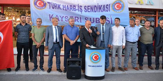HARB–İŞ'TEN PROTESTO